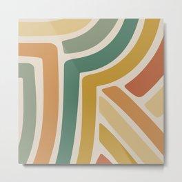 Abstract Stripes III Metal Print