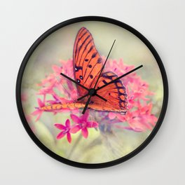 Quiet Butterfly Wall Clock