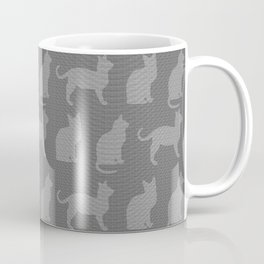 Abstract Cat Textured Impression in Greys Coffee Mug