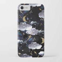 Cosmic lightning iPhone Case