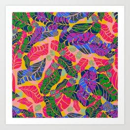 Bright jungle Art Print