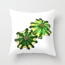 Flying Saucer Squash Throw Pillow