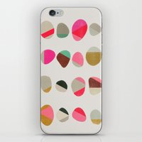 jazzberry iPhone & iPod Skins featuring painted pebbles 1 by Garima Dhawan