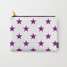 Stars (Purple/White) Carry-All Pouch