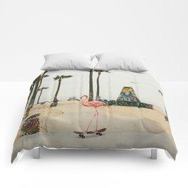 Venice Beach Flamingo Comforters