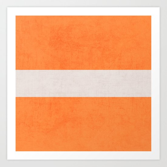 orange classic Art Print