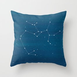 Sagittarius zodiac constellation Throw Pillow