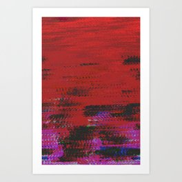 crimson wave Art Print