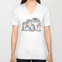 talking heads V-neck T-shirts featuring Heads by meau