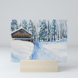 Day after the big snow Mini Art Print