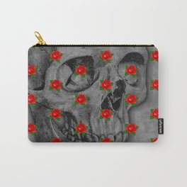No Bed of Roses / Skull and rose design Carry-All Pouch