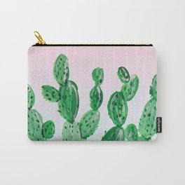 Cacti rose & green Carry-All Pouch