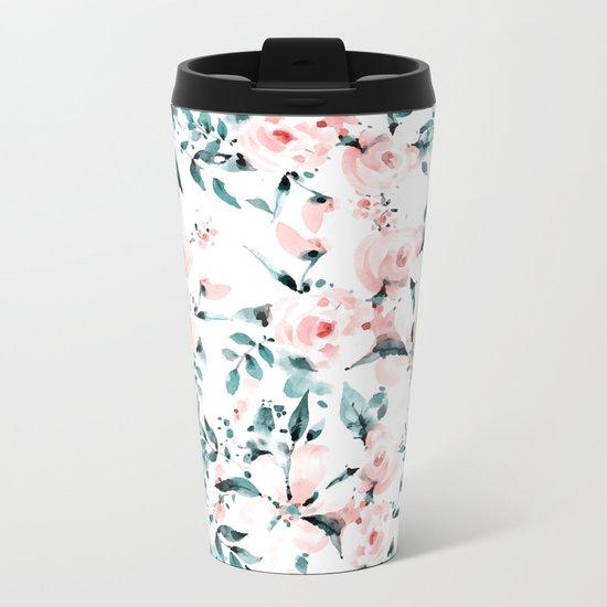 Flowers pattern 1 Metal Travel Mug