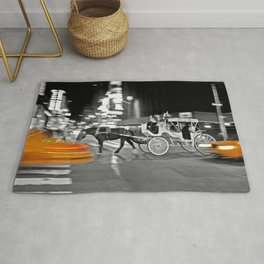 NYC - Yellow Cabs - Horse Carriage Rug