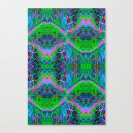 Techno Electric II (Ultraviolet) Canvas Print