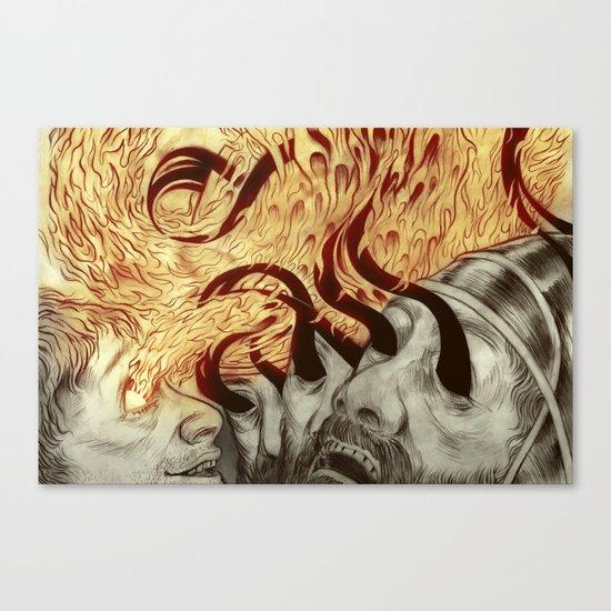 Elisha Blinds Arameans Canvas Print