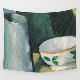 1877 - Paul Cezanne - Bowl and Milk-Jug Wall Tapestry