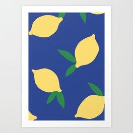 Lemons - Collage Art Print