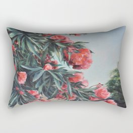Oleander in the yard Rectangular Pillow