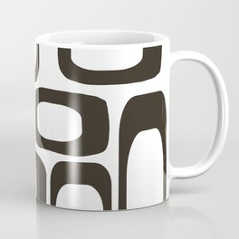 Mid Century Modern Shapes Black And White #society6 #buyart Coffee Mug