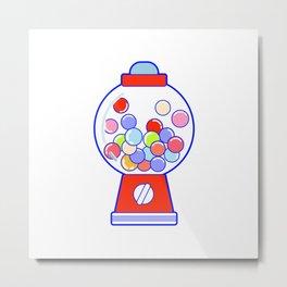 Gum Ball Machine Metal Print