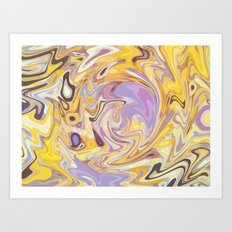 Yellow and Purple Car Wash Art Print