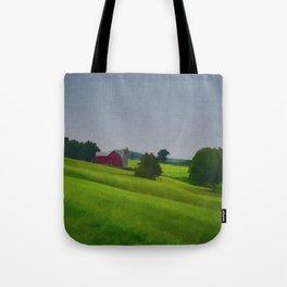 Pure Country Red Barn Art Poster Tote Bag