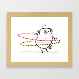 Don't Worry; Be Hoopy Framed Art Print