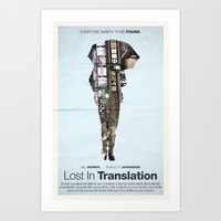 lost in translation Art Prints featuring Lost In Translation by Bill Pyle