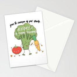Vegetarian macarena Stationery Cards