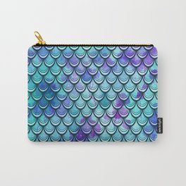 Mermaid Scales Watercolor Carry-All Pouch