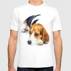 Beagle Bailey X-LARGE Mens Fitted Tee White