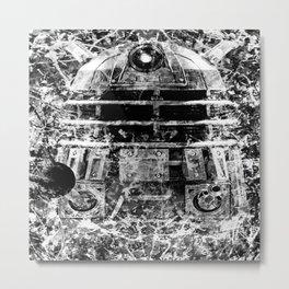 DALEK (BLACK & WHITE VERSION) Metal Print