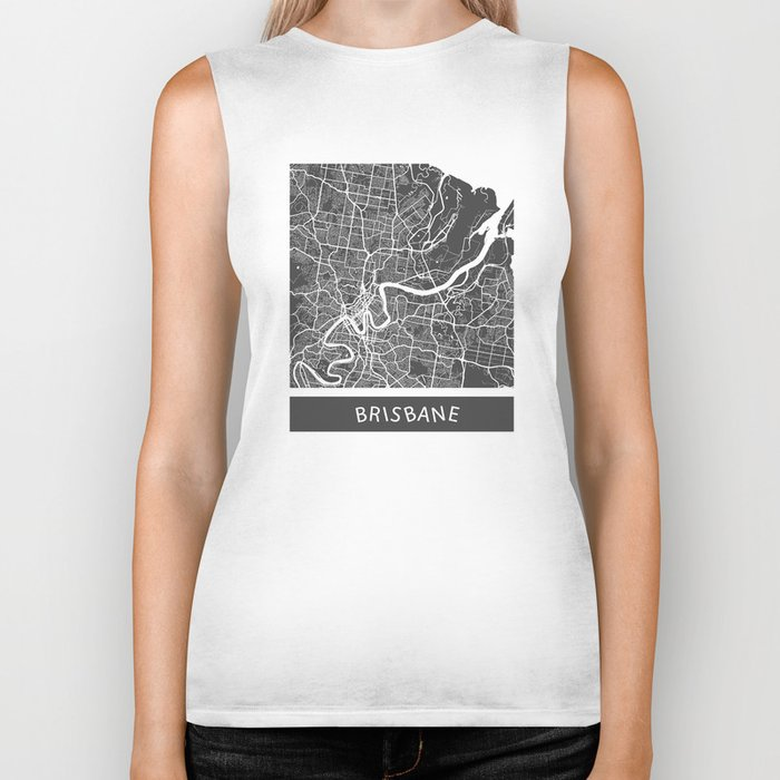 Brisbane Map Biker Tank
