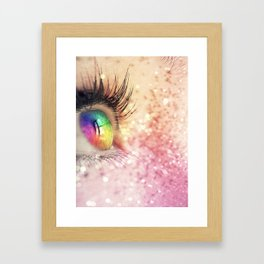 Rainbow Fairy Framed Art Print