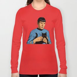 Spock's cat Long Sleeve T-shirt