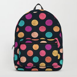 Watercolor Dots Pattern VI Backpack