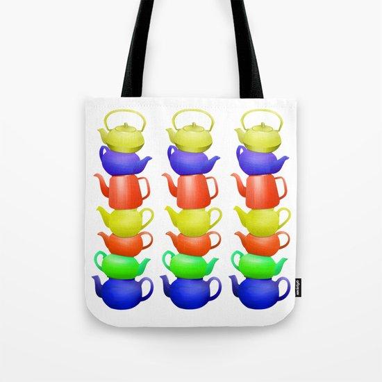 Teapot  Pattern Tote Bag