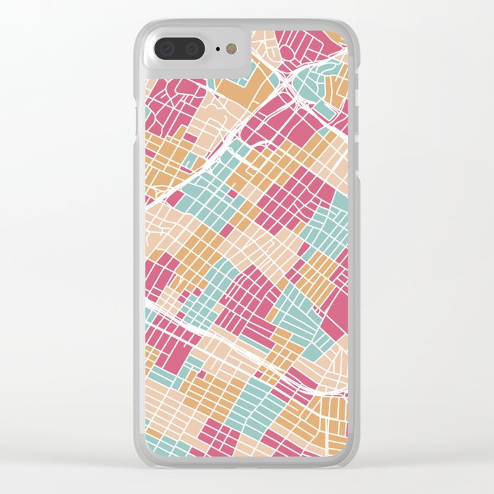 Los Angeles map Clear iPhone Case