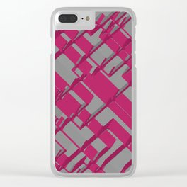 3D Futuristic BG Clear iPhone Case