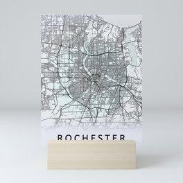 Rochester, NY, USA, White, City, Map Mini Art Print