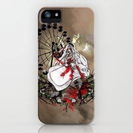 Hysteria in Rust iPhone Case