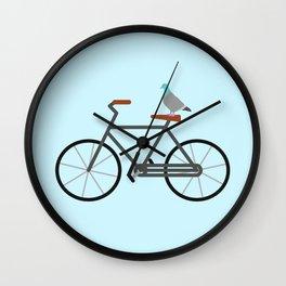 Pigeon Riding Bike Wall Clock