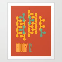 biology Art Prints featuring Biology 12 by lynseycreative