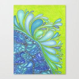 Aqua Splash Canvas Print