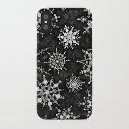 Gray Snowflakes iPhone Case