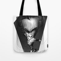 clint eastwood Tote Bags featuring Clint Eastwood by alexviveros.net