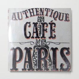 Coffee of Paris   Café de Paris Metal Print