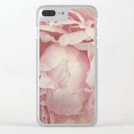 Peony Flower Clear iPhone Case