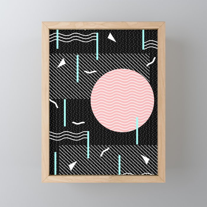 Memphis Summer Night Framed Mini Art Print